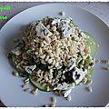 Salade de blé à la fourme et aux pommes