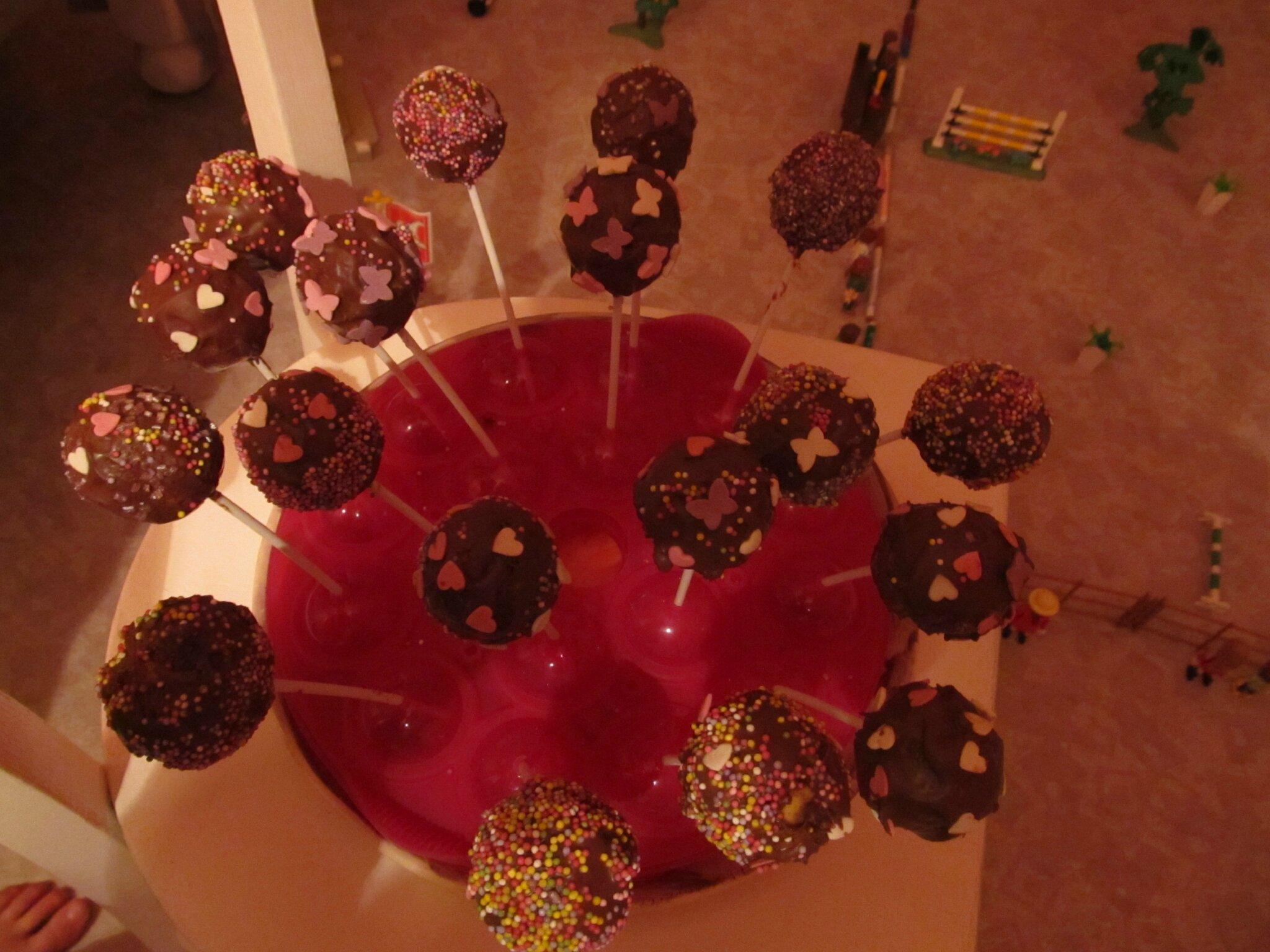 DE jolies sucettes au chocolat