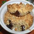 Crumble aux flocons d'avoine, chocolat et banane