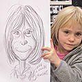 Portraits d'enfants ou de jeunes adultes :je dessine avec gentillesse et humour !