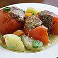 Tomates farcies a la viande de veau