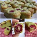 Financiers framboises-pistaches