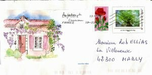 Mail art Martine la pelerine