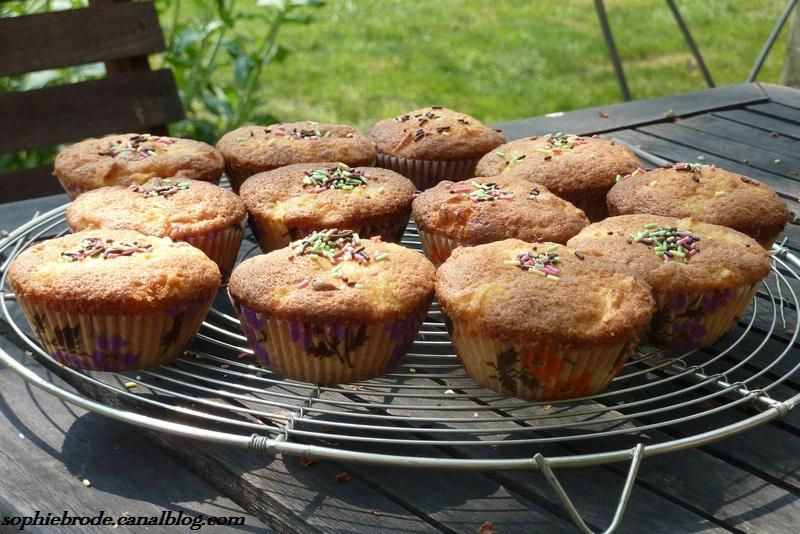 Muffins cramberries-pommes