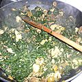 Tourte aux épinards (et poulet)