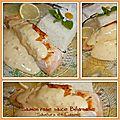 Saumon rose poêlé sauce béarnaise