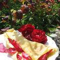 Crêpes aux pétales de rose