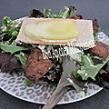 <b>salade</b> de foies de volaille froids au st Nectaire fondant et on a gagné ! on a gagné ! Vive les bleus !