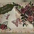 Carte shabby rose