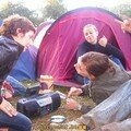 Notre camp de base, Charlotte, Fabienne et Evelyne