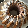 Bundt cake aux fruits rouges
