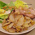Pilons de poulet à la mandarine, à la poire, au sumac et au fenugrec