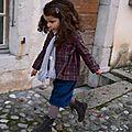 Ella modifié en jupe culotte et Colombine à carreaux