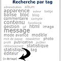 Pourquoi le nuage de tags sur mon blog n