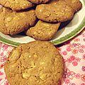 Cookies au chocolat blanc et noix du brésil