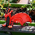 Dragon rougen pate fimo