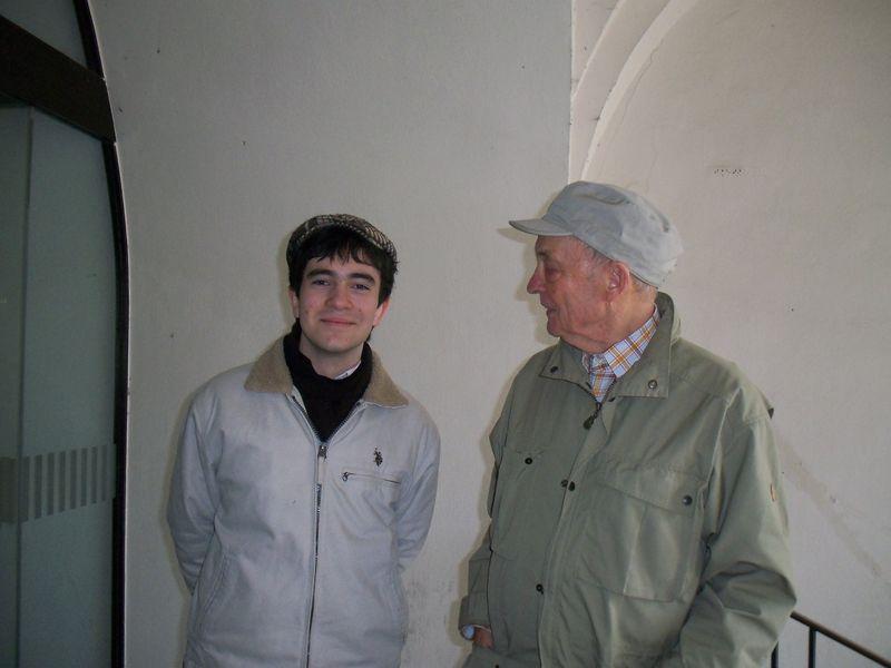 Ingmar avec le grand sociologue du droit Hans Albrecht Hesse