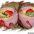 Mousse fraises et ricotta