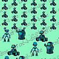 robot voiture vert 50 par 150