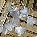 Etiquette coeur en zinc (3)