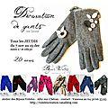 Atelier de décoration de gants en laine très bientôt