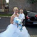 Bouquet de mariage cinéma Orchidée bleu et blanc