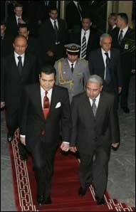 HRH Prince Moulay Rachid attended in the Rabat's Mohammed V Theater the concert of the Alexandrov Red Army Chorus, first show ever in Morocco Apr. 20, 2006