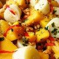 Salade de mangue et coeur de palmier
