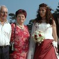 Mariage meridional, a la plage, famille du nord