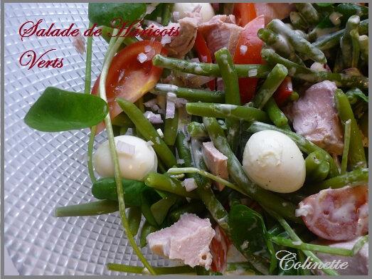 salalde de haricots vert thon oeufs pourpier