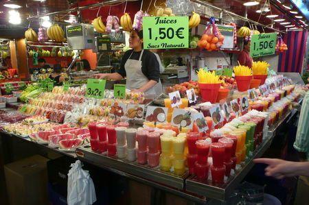 Barcelone, Mercat de la Boqueria, mai 2011