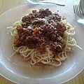 Recette: spaghettis bolognaise