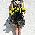 Robe pour un défi fleuri
