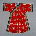 Manchu woman's informal outer <b>coat</b>, 1875-189