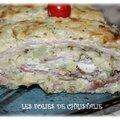 Roulé pommes de terre courgettes jambon cru ( thermomix ou pas )