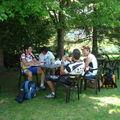 Deux couples amis stéphanois en week end <b>VTT</b> 4 Montagnes en Vercors