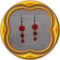 Boucles d'oreilles halloween orange