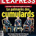 Palmarès 2013 des élus «cumulards» dans la manche