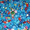 Déchets plastiques PEhd- Accumulation Bouchons bouteilles en plastique Stéphane Duclos