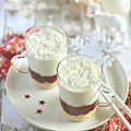 Verrine {mousse au chocolat blanc/coco et sa compotée de cranberries} #noël