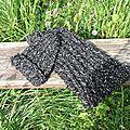 essai bonnet +echarpe noir et blanc