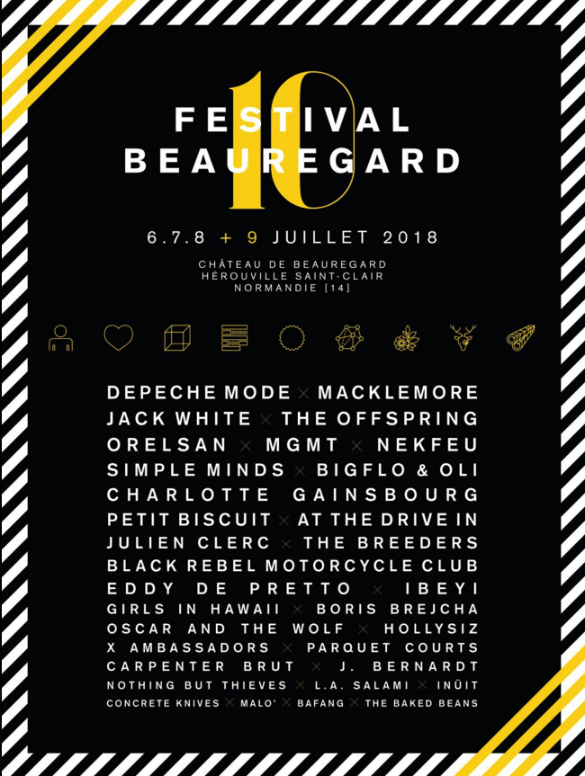 festival Beauregard 2018 : artillerie lourde et accès plus fluide au programme de la 10ème édition | 6, 7, 8 + 9 juillet 2018