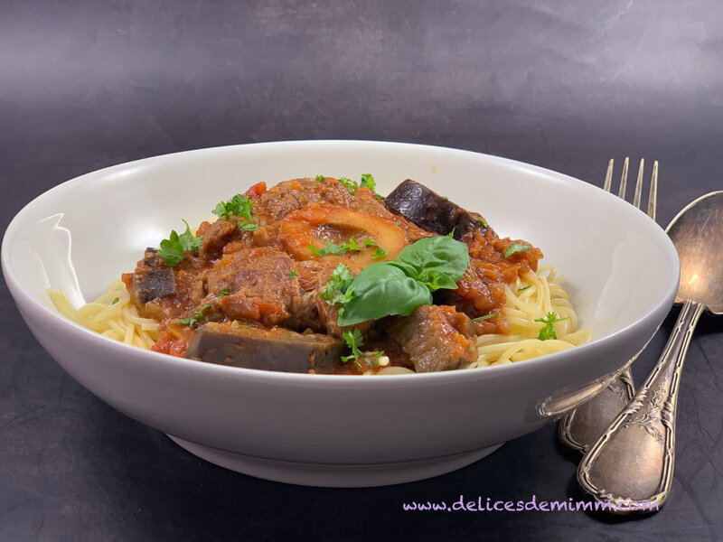 Osso bucco aux aubergines 5