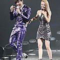 Jolin, guest performer at <b>JJ</b> <b>Lin</b>'s concert yesterday at Taipei Arena