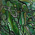 Hervé THAREL - SCHMIMBLOCK'S ptivert 2013 - acrylique sur argile - 15cm x 13,5cm (détail1)