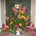 Bouquet triangulaire ou bouquet d'acceuil