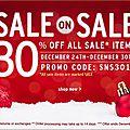 Sale on sale: -30% sur les produits soldés chez cherry culture!