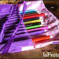 Trousse velours violet