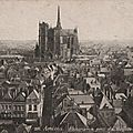 Carte Postale d'Amiens <b>Panorama</b> pris du Beffroi 1929