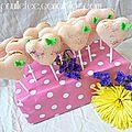 Sucettes macarons en forme de coeur { fraise/citron vert }